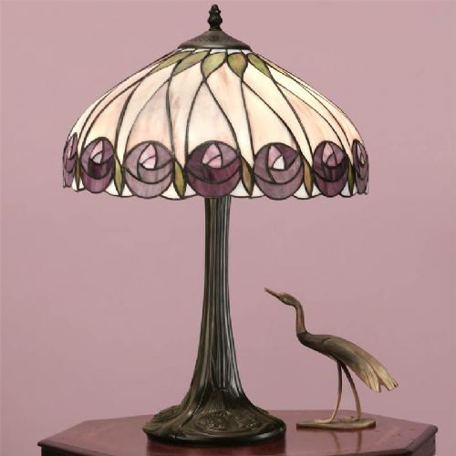 Hutchinson Table Lamp (Mackintosh, Medium Table Lamp) T049T (Tiffany style)